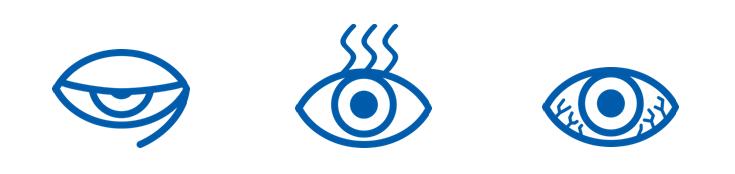 únava očí - příznaky