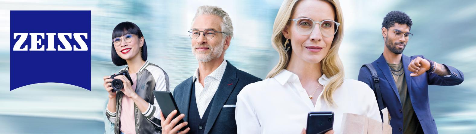 Nejlepší multifokální brýlové čočky ZEISS Progressive SmartLife Individual DuraVision Platinum UV pro ostré vidění na všechny vzdálenosti.